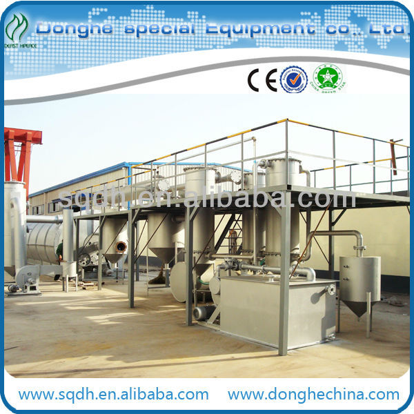 heavy fuel oil extract fuel oil from waste tyre/rubber with cap of 6T/D