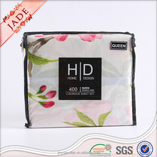 Microfiber fabric flower bed sheet queen size 4pcs bedding sets