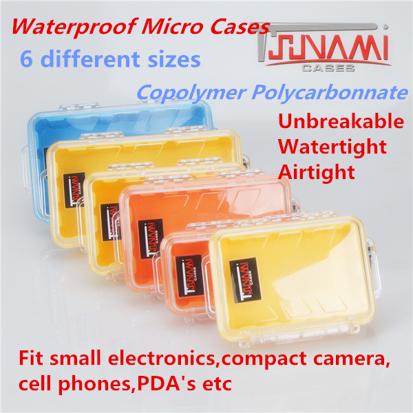 Tsunami Waterproof Hard Plastic Micro Transparent Case