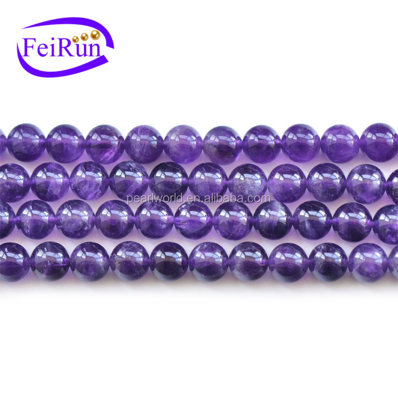 4-12mm round purple color gemstone beads loose crystal beads,natural crystal beads