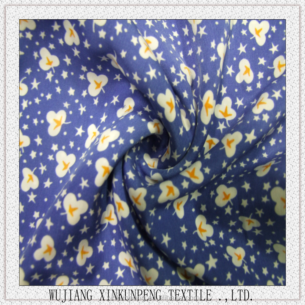 Printed ity fabric garment clothing