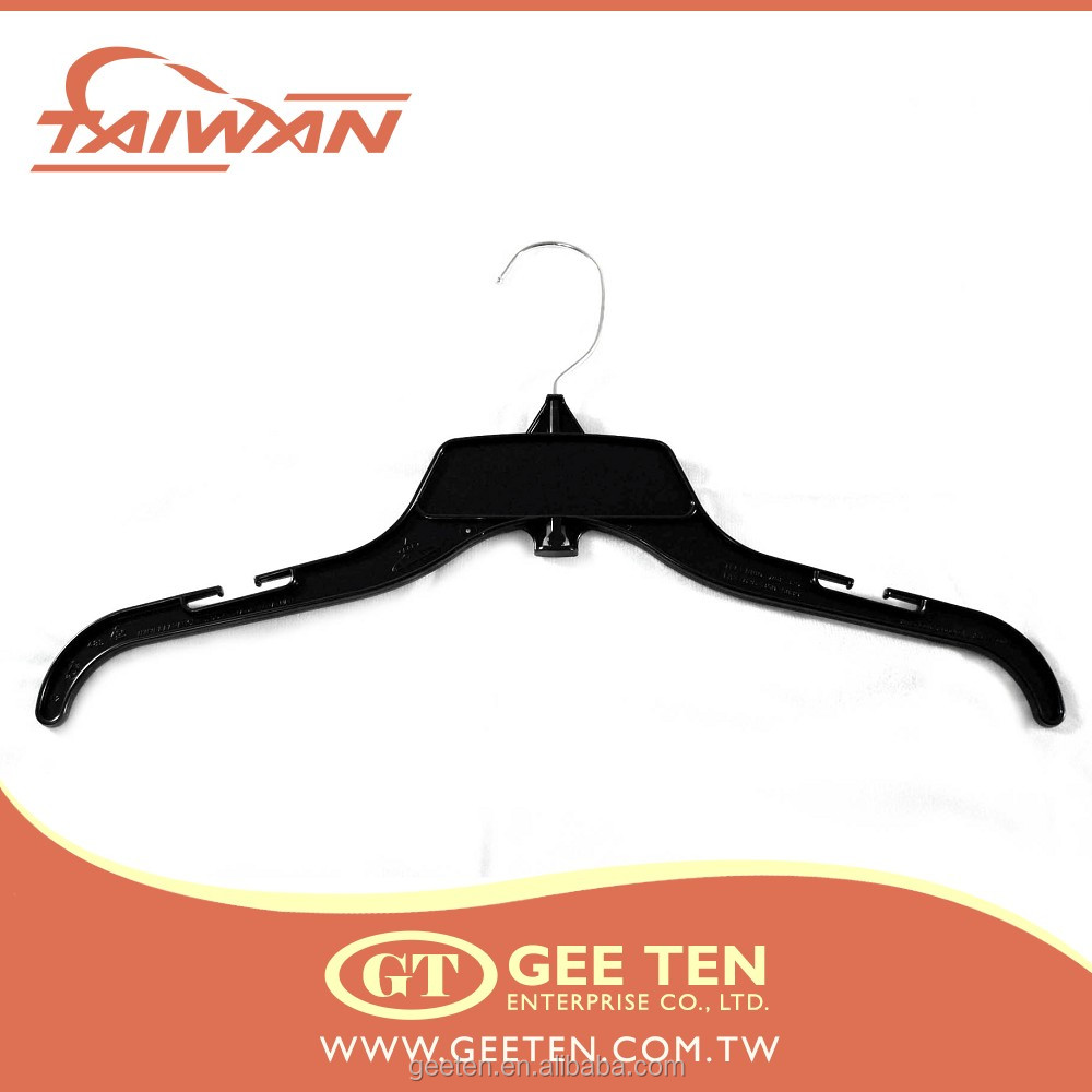 10inch garment factory use children clothes plastic black hanger
