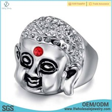 New design custom casting lost wax gold men buddha jewelry ring