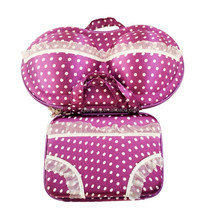 Portable lightweight eva travel bra panty set bag case