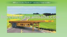 40 feet two axle Flatbed container semi-trailer
