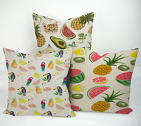 New design fruit series printing plain decorative sofa car bed chair modern throw pillows