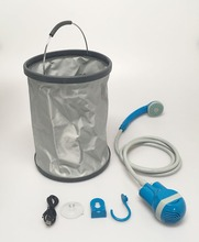 Great invention Shower!! Portable Beach Shower Bidet Sprayer for Marine Camping and dogs washing with 15L Folding Bucket
