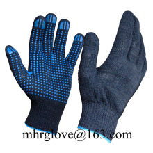 Brand MHR Pvc Dotted Cotton String Knit Safety Cotton White Work Gloves