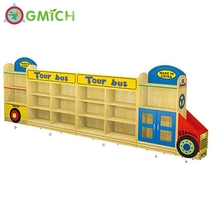wooden kindergarten furniture children wooden wall <strong>shelf</strong> from Guangzhou