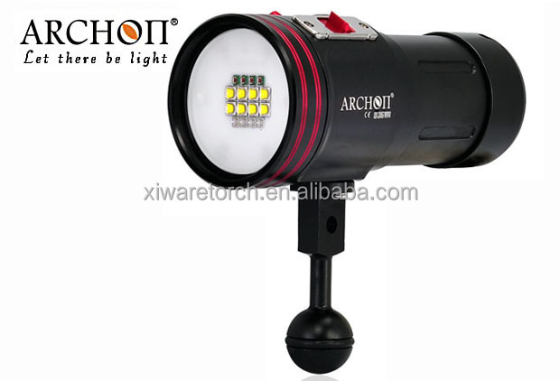Archon D36VR W42VR diving Video C ree XM-L2 U 5200lm underwater WP <strong>Flashlight</strong>