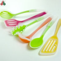 Colorful creative plastic silicone different types of spatulas for cooking kitchenware and non-stick pan
