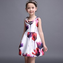 2017 new model ruffle posh baby girl party dress