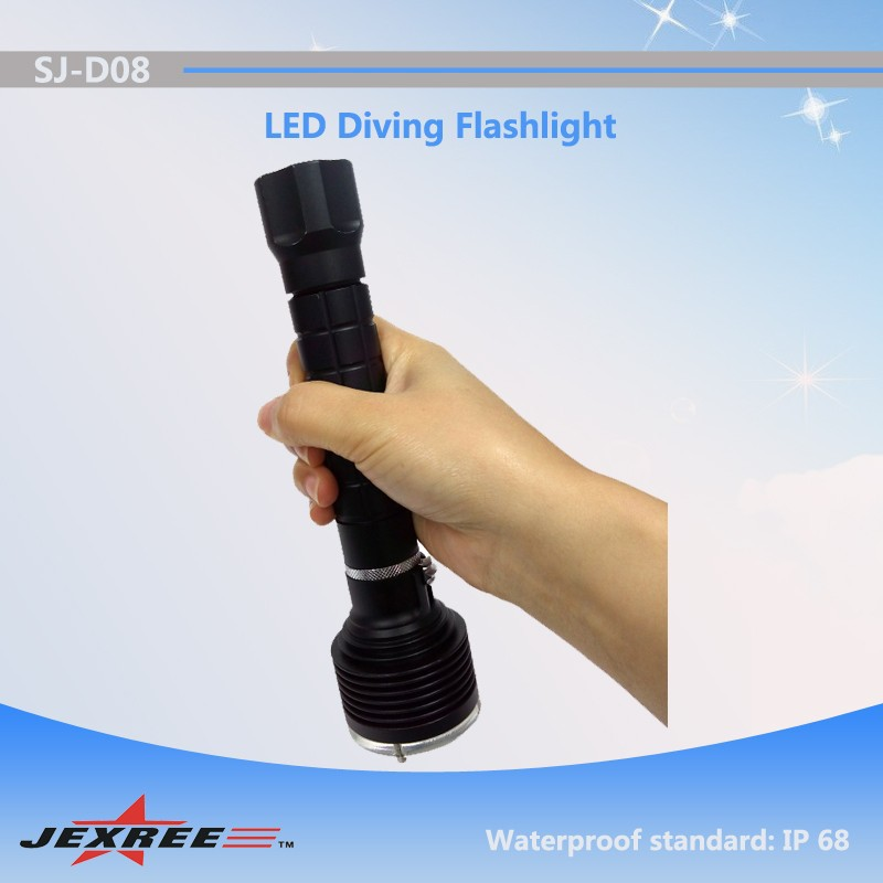 Jexree Scuba swimming accessory! diving equipment underwater T6 Led flashlight 3000LM long distance military