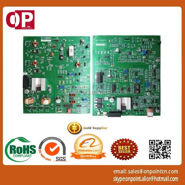 high sensitivity Dual RX&TX eas electronic rf PCB board with 1.3 m to 2.0 m detecting distances OP-B001
