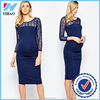 Yihao new Design Wholesale Women Maternity Exclusive long sleeve Dress pencil maternity dress 2016 formal maternity dress