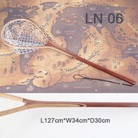 Rubber fishing long handle landing nets