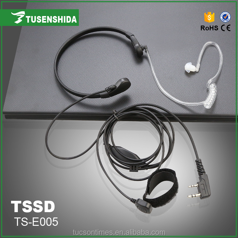 Air tube earphone mic for two way radio TS-E005