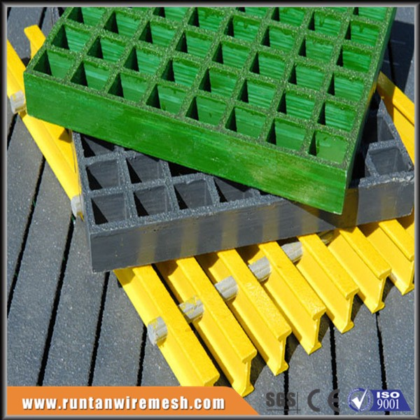 ASTM E-84 test passed frp molding fiberglass trench grate for walkway floor, chemical industry, paper industry and power plants