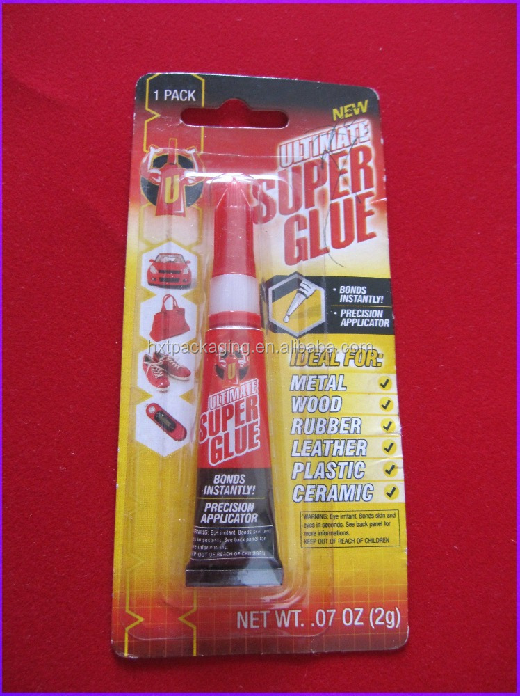 heat seal blister packaging for super glue