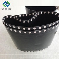 PTFE Coated glass SEAMLESS FUSING machine BELT BLACK conductive upper belt and lower belt heat resistant non stick