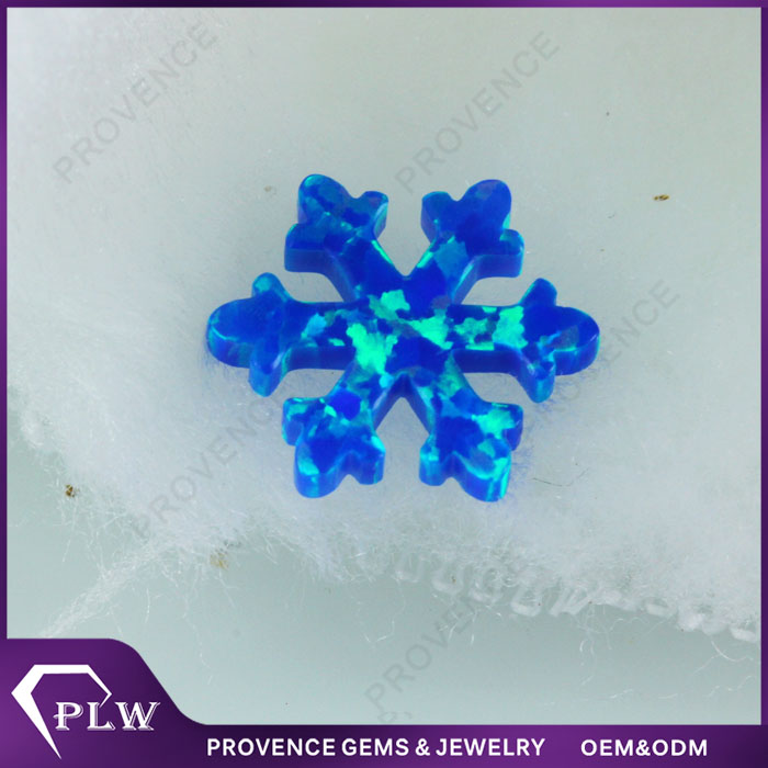 New arrival Snowflake cut 12.2mm Blue color ethiopian fire opal stone with factory price