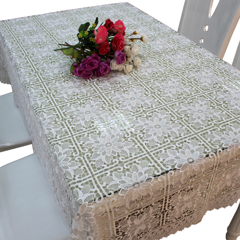 Oriental lace tablecloth