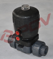 upvc flange pneumatic steam control valve diaphrahm valve with solenoid valve