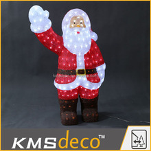 Outdoor christmas decorations 3D led light acrylic santa claus