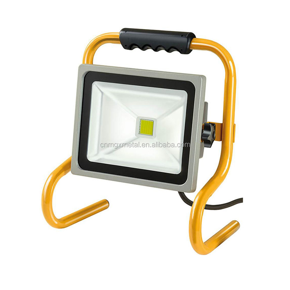 OEM High Quality Customized Bending Yellow Powder Coating Metal LED Light Frame