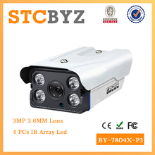 Night vision H.265 ip Outdoor waterproof array ir led 3MP CCTV Camera