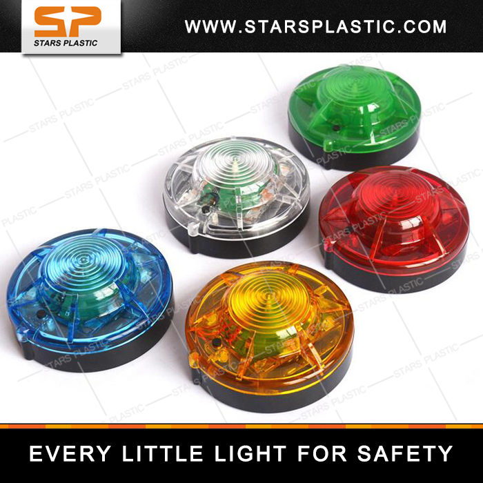 Colored magnetic LED battery beacon light