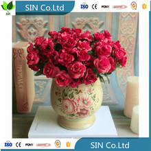 china hebei SIN co.ltd Wholesale Single Stem decorative flower real touch rose flowers artificial
