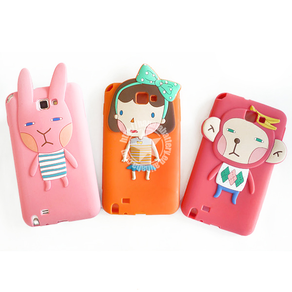 [HANATA] Cute Animal Silicon Mobile Phone Shells for Samsung Galaxy Note 2 N7100 Made in China