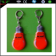 customized new 2017 free samples plastic light flashing reflector material keychain / reflective keychain