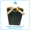 Taiwan Offset Printed Art Paper Bags with Ribbon Closure for Clothing Package