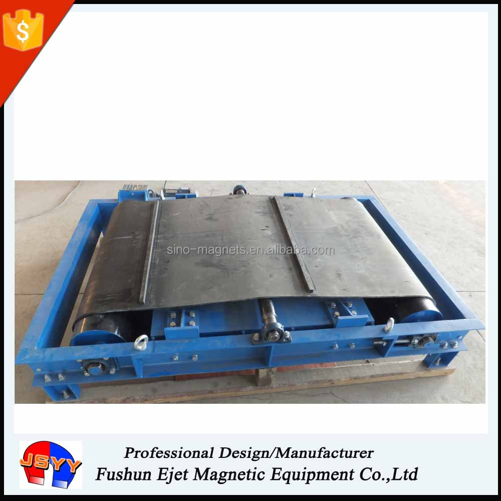 continuous magnetics crossbelt separation of ferrous from nonferrous products