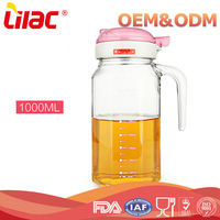 zhongshan lilac brand OEM&ODM Kitchen cooking glass bottle for oil or vinegar