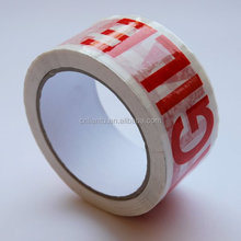 bopp white fragile tape bopp packing sealing tape