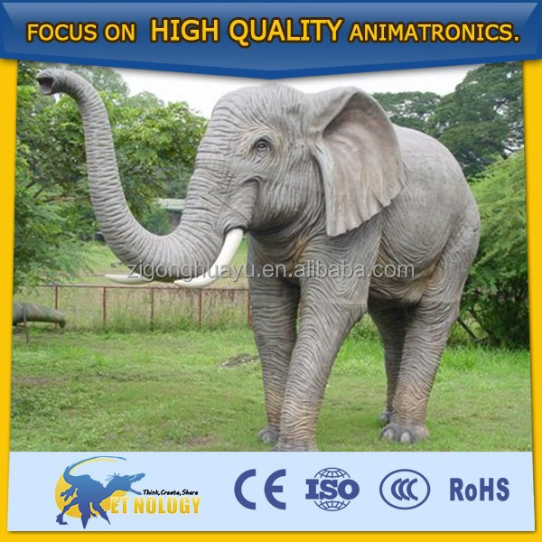 Cetnology animated simulation furry elephant toy imitated elephant Plastic life size animals