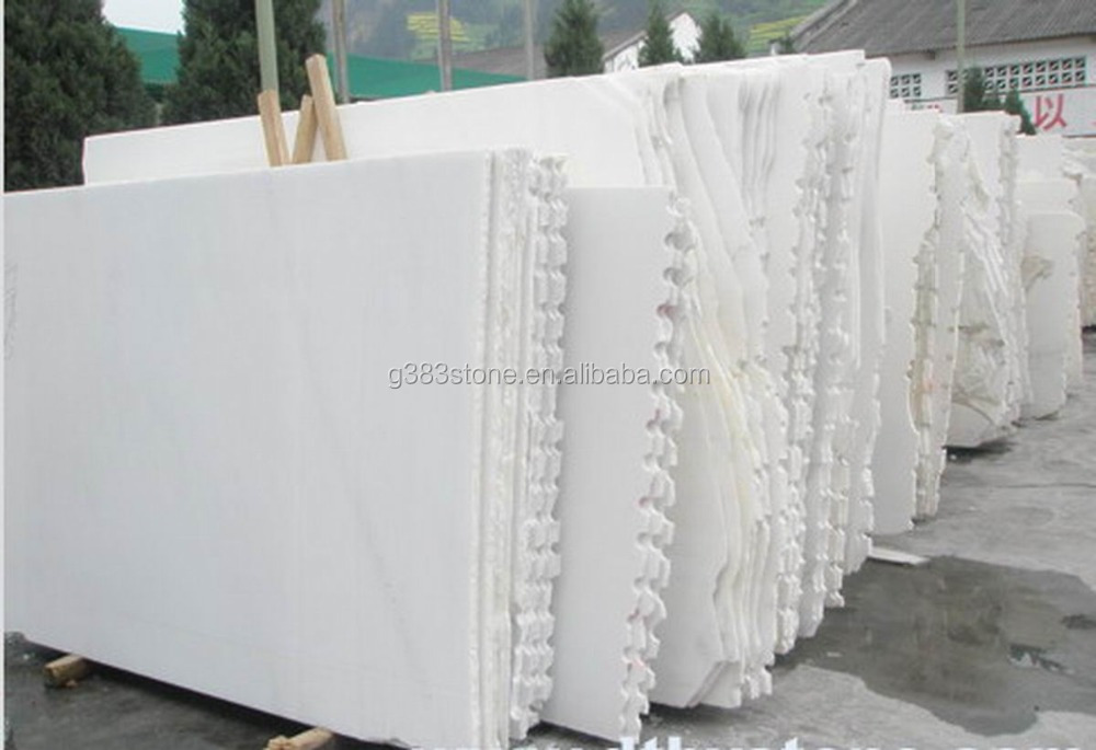 Own Quarry China most white marble stone slab, white carrara marble slab