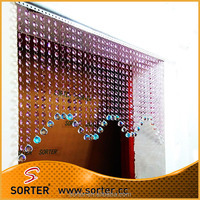 New style crystal beaded string door curtain for room divider or salon bar hotel decoration