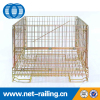 Welded foldable collapsible metal galvanized storage wire mesh cage