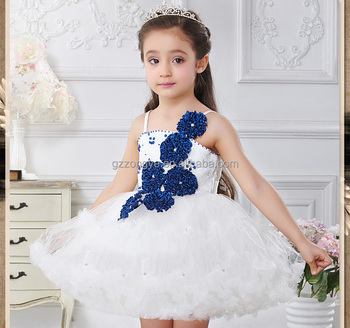 2015 Children summer sling dress Girls elegant handmade flowers princess sleeveless dress OEM supply