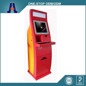 Touch Screen Self Service Bill Payment Kiosk With High Quality Cash Payment Kiosk
