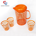 PS Plastic Tea Kettle Set with 3 PCS Cups