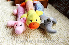 New Puppy Chew Squeaker Squeaky Plush Sound Pig Elephant Duck For Dog Sound Toys