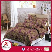 European Style Print Adult Bedding Set,100%polyester Bright Color High Quality Bedding set