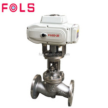 open and closed SS 314 motorized globe valve