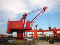 25t fixed rotary jib portal crane 360degree slewing fixed base used in the port