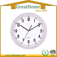 "Plastic 12"" wall clock different shape"